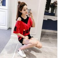 Wholesale Green T House - 2017 summer new T-shirt female 72 change fashion house straps splicing fake two-piece jacket with short-sleeved T-shirt women's tide