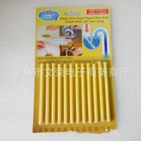 Wholesale toilet drain cleaners online - Sani Sticks Sewer Cleaning Rod Drain Cleaner And Deodorizer Unscented kitchen Toilet Bathtub Sewage Shortcut Hot Sell wr J