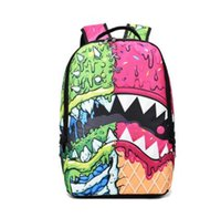 Wholesale gold teeth styles - Shark tooth backpack Sprayground design daypack Street schoolbag Spray ground rucksack Sport school bag Outdoor day pack