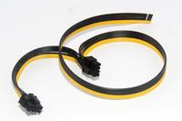 pcie tarjetas de video al por mayor-Al por mayor-6pcs / lot Doble puerto doble PCI-E PCIE PCI Express 8Pin tarjeta gráfica de video DIY Cable de alimentación plana Cable 18AWG 8pin + 8pin