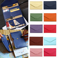 Wholesale Documents Holders - Wholesale- Famous Brand New Multifunctional Temperament Fashion Passport Bag Women's Thin Soft Travel Documents Purse bolsa carteras mujer