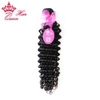 "Wholesale Queens Hair Products Deep Wave - Queen Hair Products Brazilian Virgin Human hair extensions Deep curly Wave 8""-28"" in our stock DHL Free shipping"