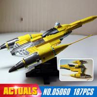 Wholesale Model Aircraft Kits - LEPIN 05060 187Pcs UCS naboo fighter aircraft Model Building Kit Blocks Bricks Compatible 10026 Toys