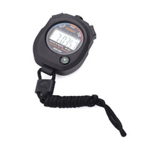Wholesale Digital Stopwatch Compass - Wholesale-Water Resistant Sports Combine Digital Chrono Stopwatch Timer with Compass and Lanyard