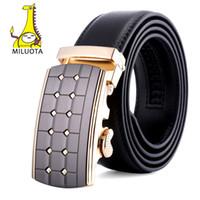 Wholesale Wholesale Designer Men Belts - Wholesale- [MILUOTA] Men Automatic Buckle Brand Designer Leather Belt Business Belt Mens Strap Top Quality and Luxury Cummerbund MU083