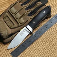 Wholesale A2 Leather - INFINER Loveless A2 blade G10 handle fixed blade hunting knife Leather sheath tactical camping survival outdoors knives EDC tools