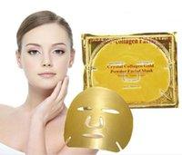 biyolojik nemlendirici kollajen maske toptan satış-Altın Bio-Kolajen Yüz Maskesi Yüz Maskesi Kristal Altın Tozu Kollajen Yüz Maskeleri Nemlendirici Anti-aging güzellik ürünleri DHL Ücretsiz