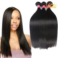 Wholesale Mix Colour Hair - Brazilian Straight Hair Mix Length Hot Sale Longjia Products Dream Hair Dyeable Natural Colour Straight Weave weft Silky 7A Grade Hair
