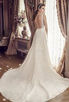 Wholesale Open Back Short Chiffon Dress - full lace drop waist wedding dresses 2017 mikaella bridal sleeveless illusion bateau sweetheart neckline open square back