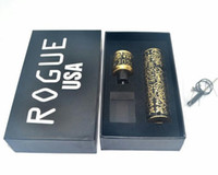 Wholesale Brass Processing - Newest Rogue Mod E-cigarette Mod kits Brass Copper Seiko version fine carving process 24MM Rogue RDA Rebuildable Dripping Atomizer DHL