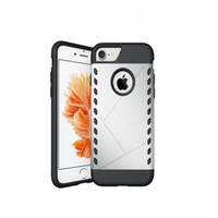 Wholesale Dual Slim Mobile Phone - Mobile phone case Shockproof Dual Layer TPU Hybrid Rugged Armor PC Slim Silicon Back Case Cover For iphone 7