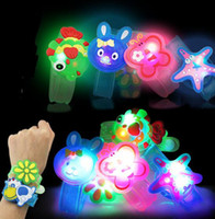 Wholesale Hot New Cartoon Watch - 2017 HOTTEST Creative Cartoon LED Watch flash Wrist bracelet light small gifts children toys wholesale stall selling goods Christmas toys