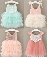 Wholesale korean fashion princess dresses girls resale online - 6 style hot selling New Arrivals Korean styles girl Lace Flower skirt Casual girl elegant sling Fashion sequins Princess Dress