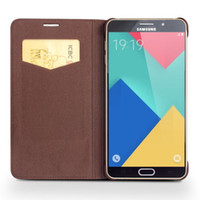 Wholesale Thin Bar Mobile - For Samsung Galaxy A5 Case Leather Flip Cover Ultra Thin Mobile Phone Cases for galaxy A5 With Card Holder