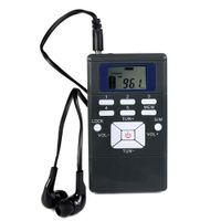 Wholesale Pc Dsp - 10 pcs Mini Portable DSP FM Radio Stereo Digital Clock Receiver for Meeting Simultaneous Interpretation Radio FM Y4305A