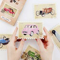 Wholesale Vintage Postcard Pack - Wholesale- 30 pcs pack Vintage car stamp Heteromorphism Greeting Card Postcard Birthday Letter Envelope Gift Card Set Message Card