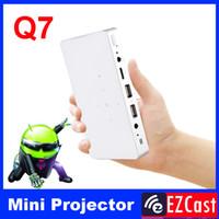 tableta proyector dlp al por mayor-Al por mayor- Pico pocket battery 200ANSI mini micro portátil Android 4.2 DLNA Miracast HD 3LED DLP videoproyector para tableta Android