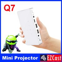 Wholesale Pico Projector Phones - Wholesale- Pico pocket battery 200ANSI mini micro Portable android 4.2 DLNA Miracast HD 3LED DLP video projector for Android phone tablet