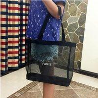 Wholesale Wholesale Mini Mesh Bags - Free DHL Fashion Ladies Transparent Mesh Shoulder Bags Designer Brand Women Luxury Shopping Handbags Party Bags
