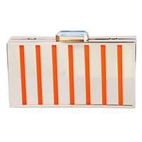 iphone hohl großhandel-Großhandel Kristall Bling Metall einzelne Umhängetasche Handtasche Ausschnitt Metallkiste Abendtaschen für iPhone 6 Zebra Streifen hohl - DT004