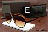 Wholesale Women S Glasses Top Quality - Top Quality New Fashion Tom 0339 Sunglasses Ford Man Woman Erika Eyewear Designer Brand Sun Glasses Matt Leopard Gradient Lenses Box Cases