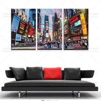Wholesale Hd Cities - Drop Shipping 5 Piece(No Frame) Large Modern Wall Art Canvas New York City Picture For Home Decor Living Room HD Print Painting On Canvas