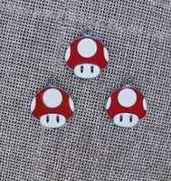Wholesale Mario Bros Charms Wholesale - New 50 pcs Cartoon Super Mario Bros Metal Charms Jewelry Making Pendants Earrings AT98