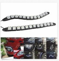 Wholesale Daylight Audi - wholesale Universial 12LED DRL Flexible Daytime Running Light Driving Daylight Fog Lamp Fog Light Lamp For Audi