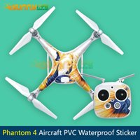 Wholesale Aircraft Skin - Wholesale- 2016 PVC Stickers Phantom Aircraft Waterproof Stickers Skin Decals Paster Easy to Paste and Tear off for DJI Phantom 4 PRO