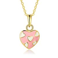 Fashion K Gold Collier Femme Collier Heart Four Leaf Clover Star Collier Chaînes Link 45cm + 5cm Longueur