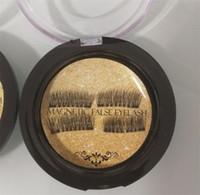 precio de las pestañas 3d al por mayor-Ojo magnético doble de calidad superior Pestañas fasle reutilizables de visón 3D Sin uso de pegamento Precio de fábrica DHL Ship