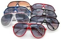 Wholesale no.1 sun online - Fashion Men Women Retro Sunglasses Oval Designer Style Glasses Man Outdoor Sport Eyewear Unisex UV400 Luxury Brand Sun glasses with Box C