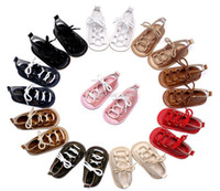 Wholesale 18 High Heels - Baby Girls PU Sandals Summer Toddler flat heels lace-up First Walkers Baby Girls high PU leather shoes
