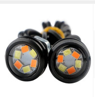 Eagle Eye Luces 6SMD coche LED Motor DRL Turn Señal Lámparas Faros de luz de reserva Auto Auto lámpara de doble color 12v DIY Estilo