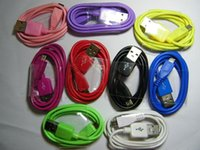 Bunte 1M 3ft Micro USB Datenkabel Draht Ladekabel für Android Samsung HTC y Handy V8 USB Kabel 200pcs
