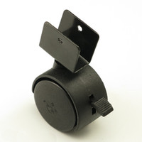 Wholesale Replacement Chair - Black 40mm Replacement Swivel Casters Office Chair Baby Crib Sofa Brake Plastic Rolling Rollers Wheels Caster Furniture