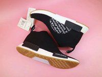 Wholesale United Arrows - Mens And Womens MIKITYPE United Arrows Sons NMD City Sock Running Shoes For Sale