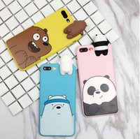 Wholesale Naked Dolls - Naked bear doll Phone Cases For Iphone 7 7plus 6 6s 6plus Soft TPU Matte Fingerprint Proof Fashionable Dirt-resistant 100% Fitted Cases