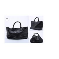 Wholesale Womens Faux Leather Totes - wholesale womens woven cabat handbag FAUX leather bag lady shoulder bag classic designer brand bag totes hobo bags large size bag