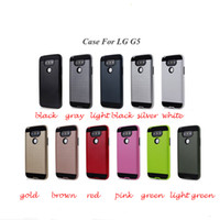 Wholesale New G3 - For LG G5 G4 G3 K10 New Brushed Rugged Dual Layered Anti-Shock Hard Case TPU Protector Case