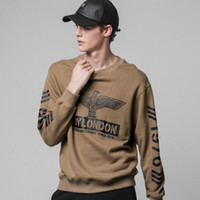 Wholesale white boy london sweatshirt - 2017 New Women Men boy london 3D loose Long SLeeve Punk eagle printed Hoodies Sweatshirts Galaxy clothes Pullover Tops