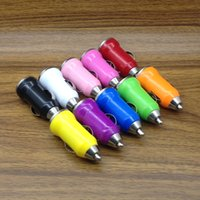 Wholesale Camera Shape Usb - 5V 700mAh Colorful Bullet Shape USB Mini Car Charger Adapter for Smartphone Camera MP3 MP4