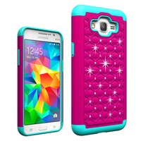 Wholesale Galaxy Mega Wallet Case - Starry Defender 2 in1 diamond brilliant bling TPU PC Shockproof Case For SAMSUNG GALAXY Grand Prime Core Prime G530 Note 4 5 Edge Mega 2