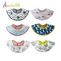 Wholesale Life Baby Infant - Wholesale- Muslin life Korean Style Baby Bibs,Lunch Bibs Boys Girls Infants Bibs Burp Cloths,Fashion Pattern Children Self Feeding Care