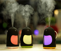 Wholesale projection for car for sale - Group buy Cute Penguins Humidifier with Colorful LED light Aromatherapy Ultrasonic Air Purifier Night Light for Office Home Car Oil Aroma Spa diffuser