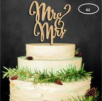 Wholesale Party Supply Hawaii - The wood material wedding cake inserted card Wedding cake inserted personalized wedding decoration wood plug WT047