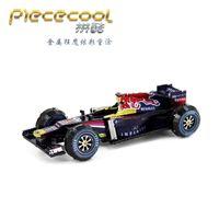 Wholesale Metal Formula - F1 Formula Racing Car Piececool 3D Metal Puzzle Colorful Assembly Laser Cut Toy Jigsaw Artwork DIY Building Block