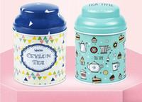 ingrosso può zucchero-18 Stile Fiore Design Metallo Zucchero Caffè Tè scatola di latta Contenitore Jar Colore casuale Candy Sealed Candy Cans Box