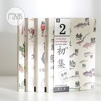 Wholesale Note Book Flower - Wholesale- MOUSRS Flower Bird Tree Fish Notebook Empty Page Note Book Sketchbook Journal kawaii school supplies