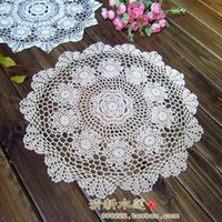Wholesale free crochet placemats - Wholesale- Free shipping ZAKKA cotton crochet doily photography props cotton pads for home decor kitchen accessories placemats coaster mat